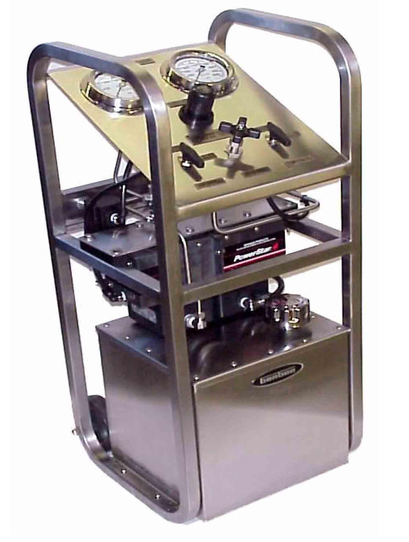 名称:柜式双泵压力测试设备